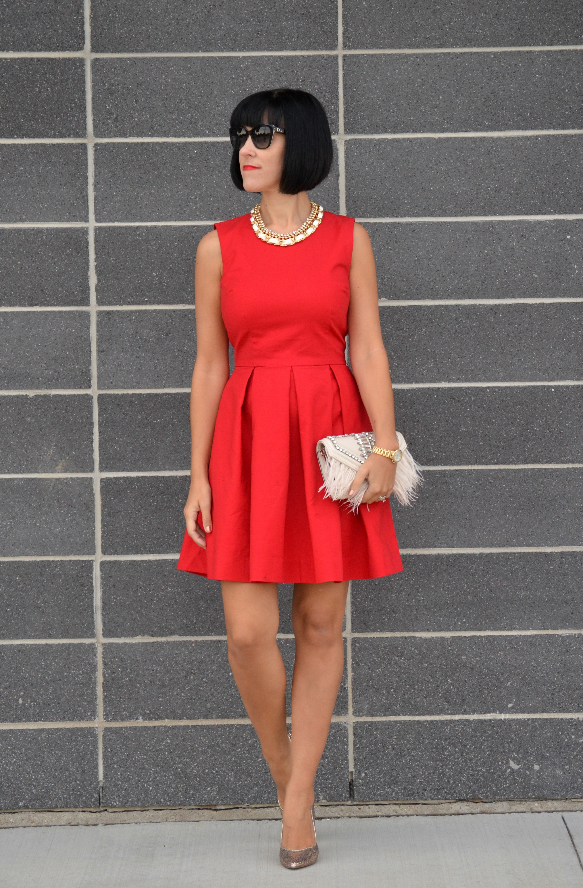 Red Gap Dress (2)