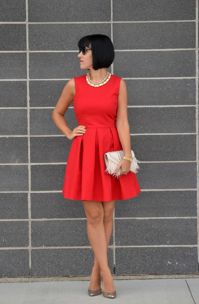 Red Gap Dress (3)