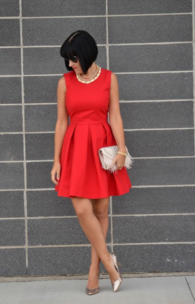 Red Gap Dress (4)