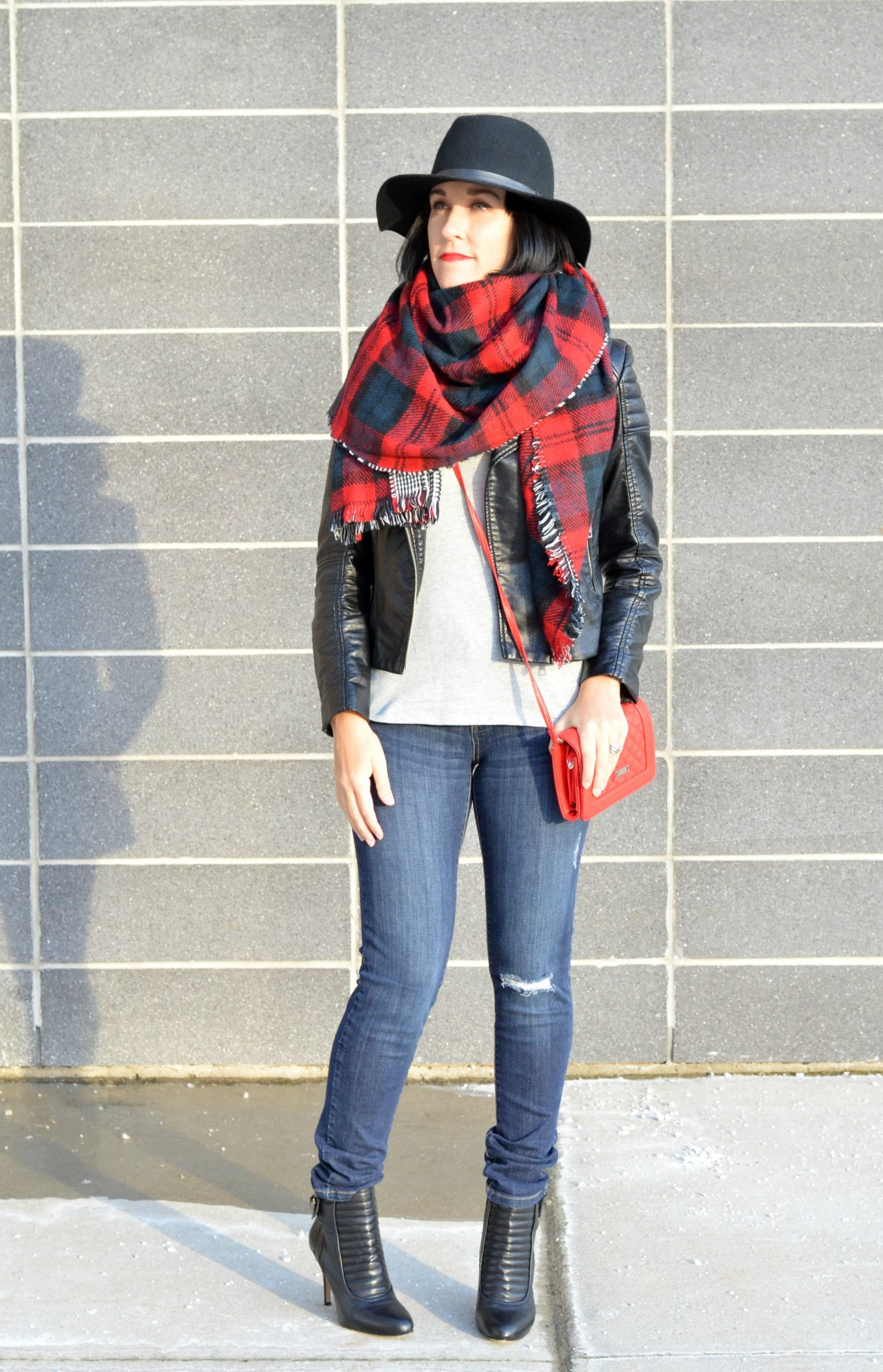 Plaid Blanket Scarf (1)