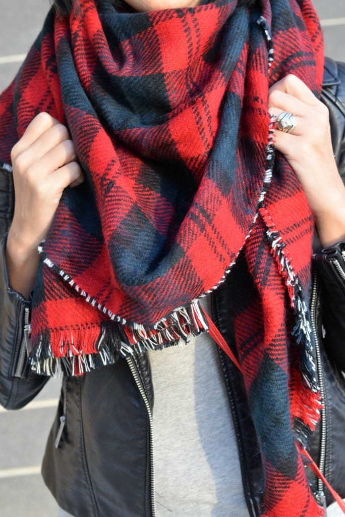 Plaid Blanket Scarf (11)