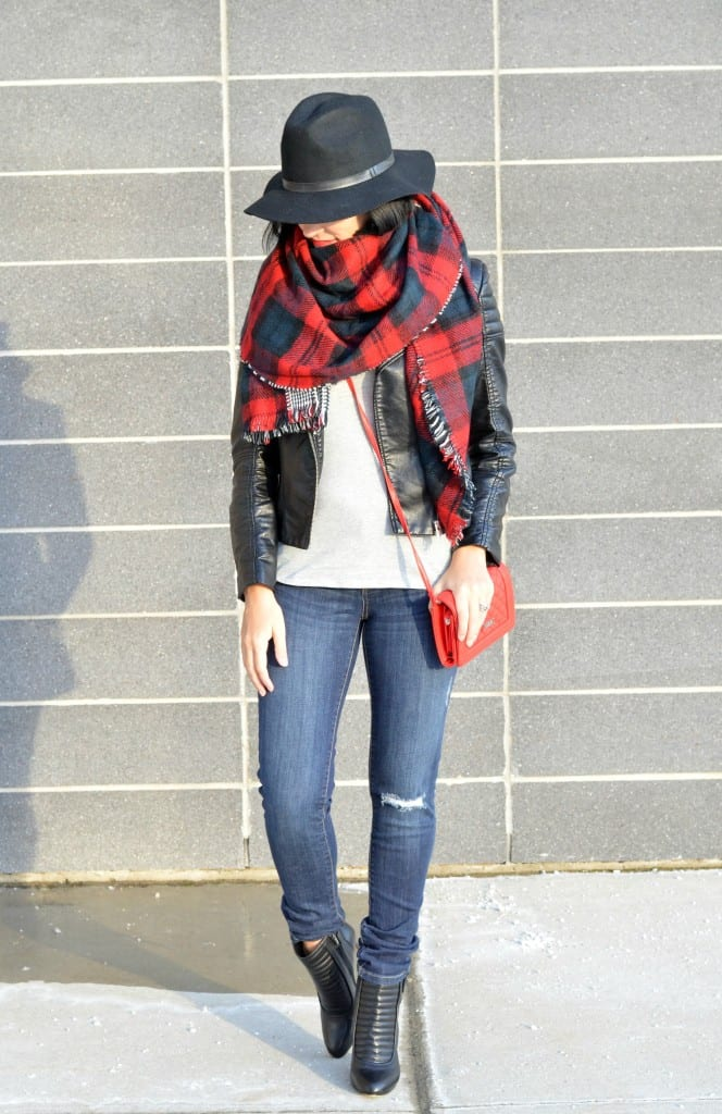 Plaid Blanket Scarf (2)
