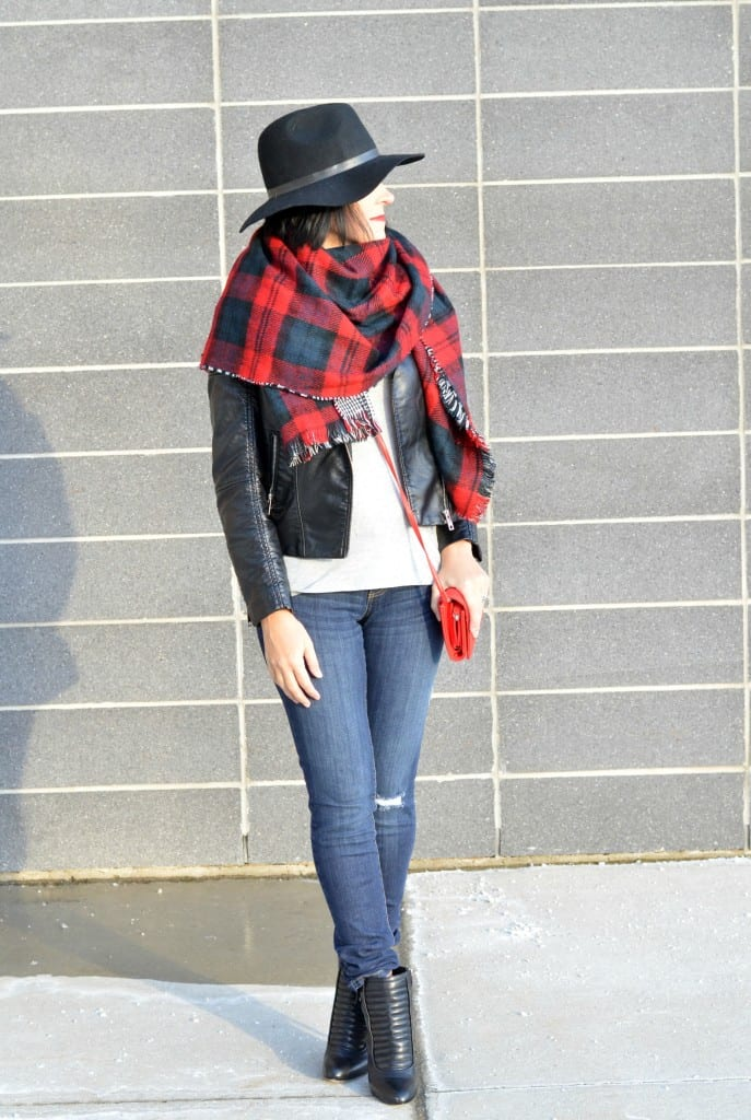Plaid Blanket Scarf (3)