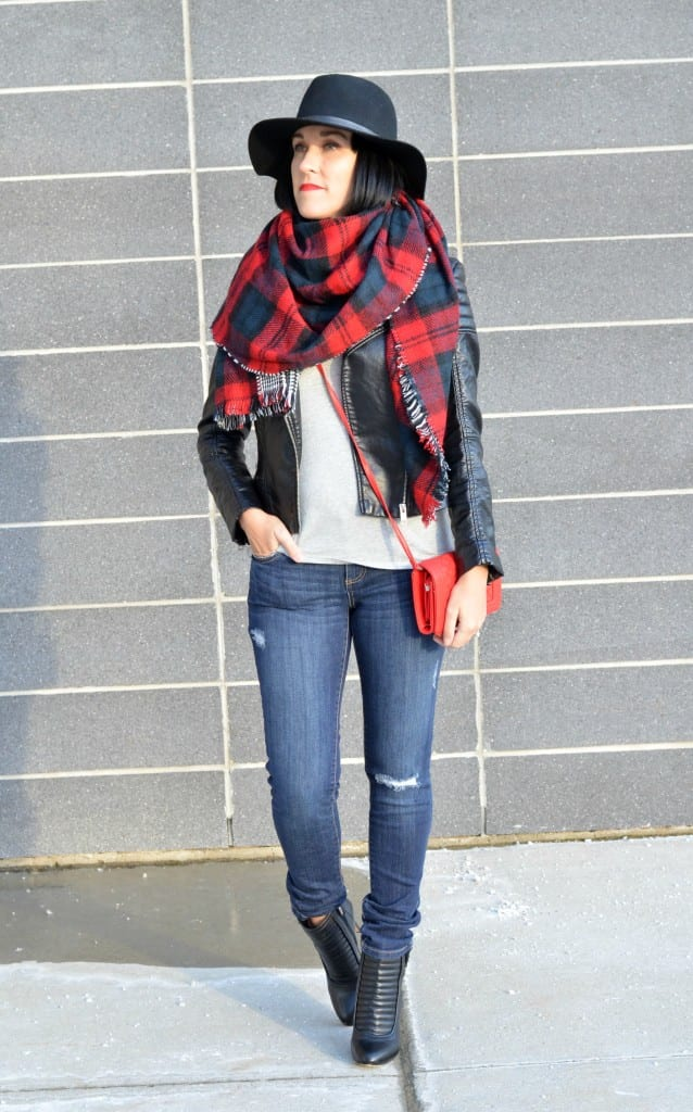 Plaid Blanket Scarf (4)