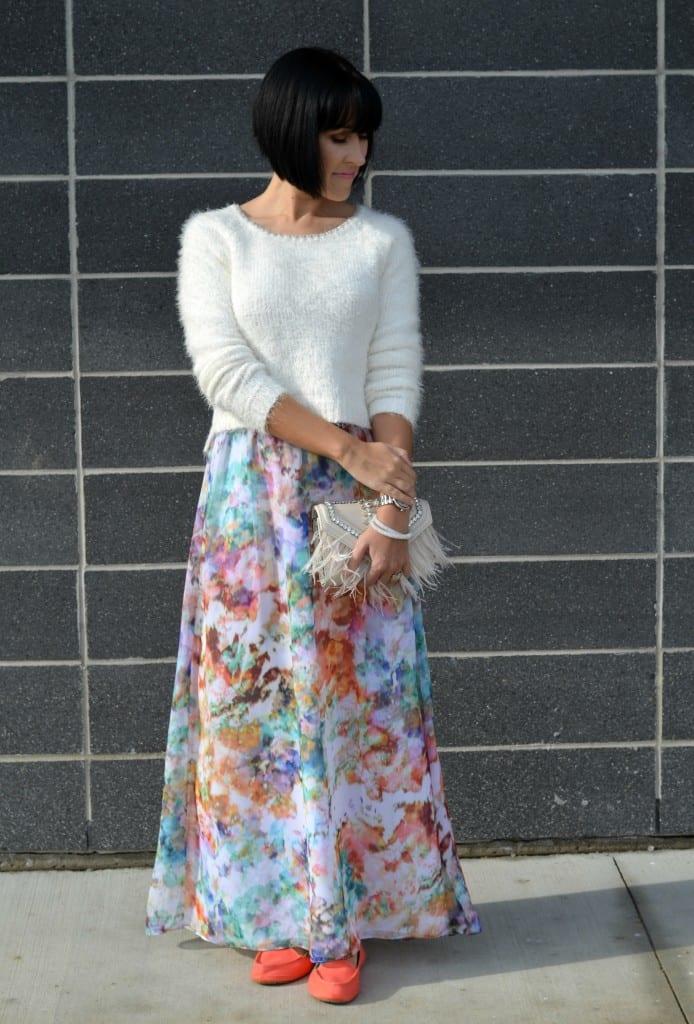 David's Bridal Floral Dress (3)