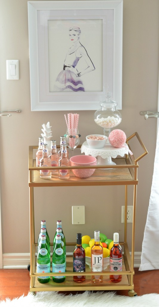 How to Style the Perfect Bar Cart
