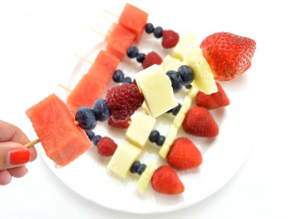 Fruit 'n Cheese Skewers