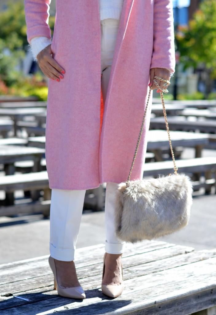 zara pink coat
