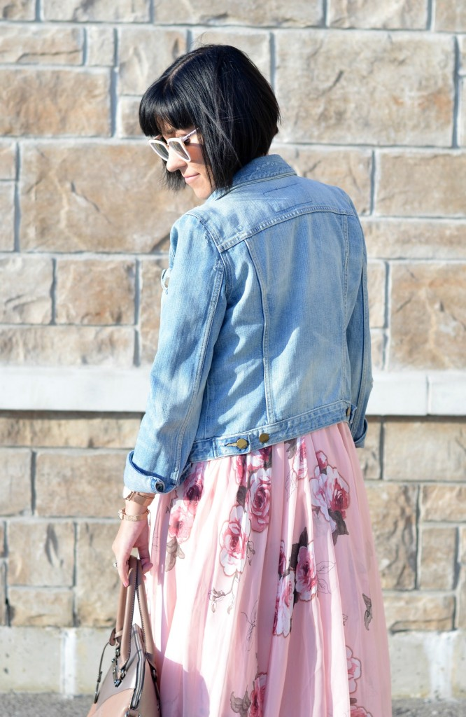 pink floral dress, canadian fashionista