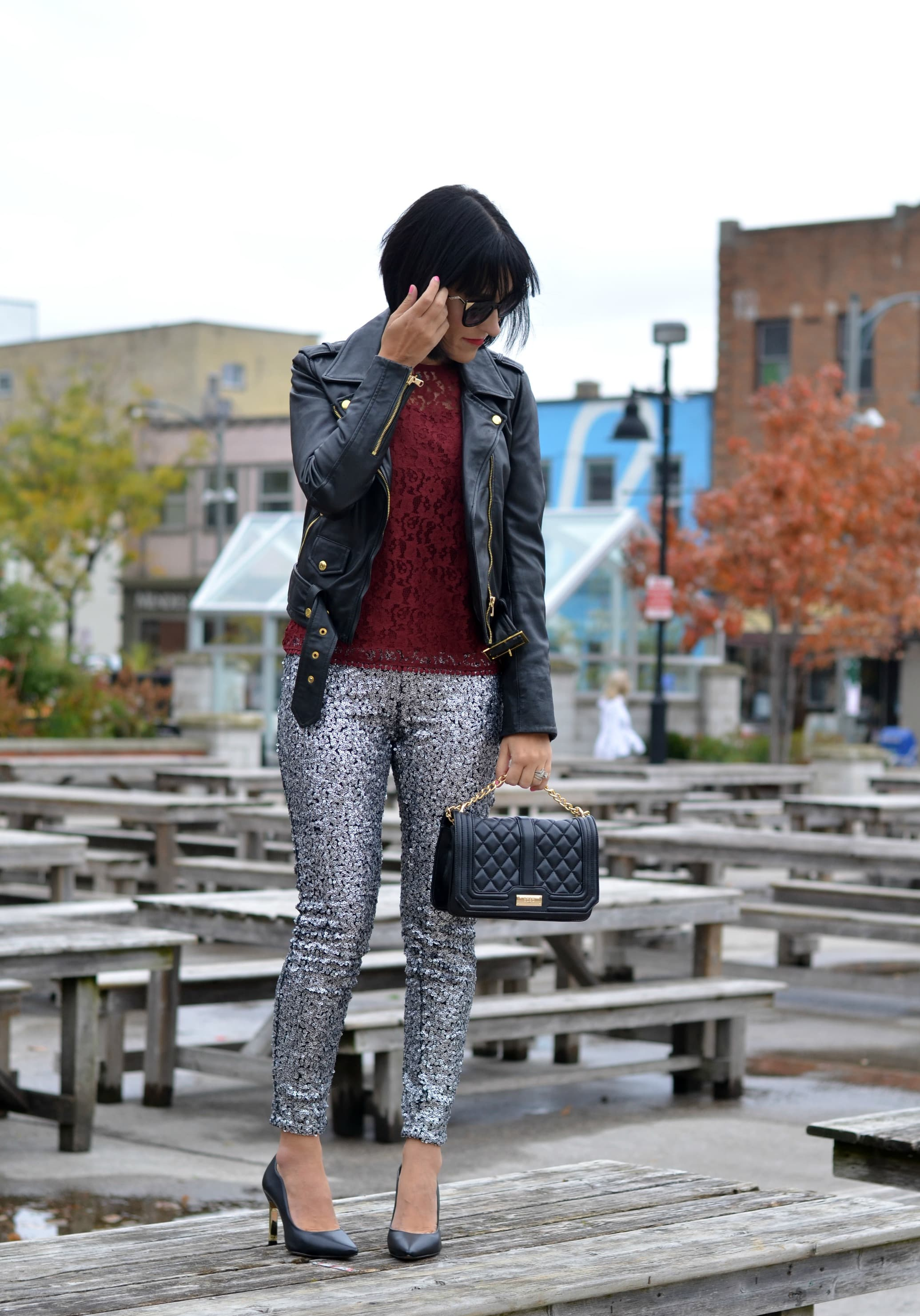 sparkly leggings