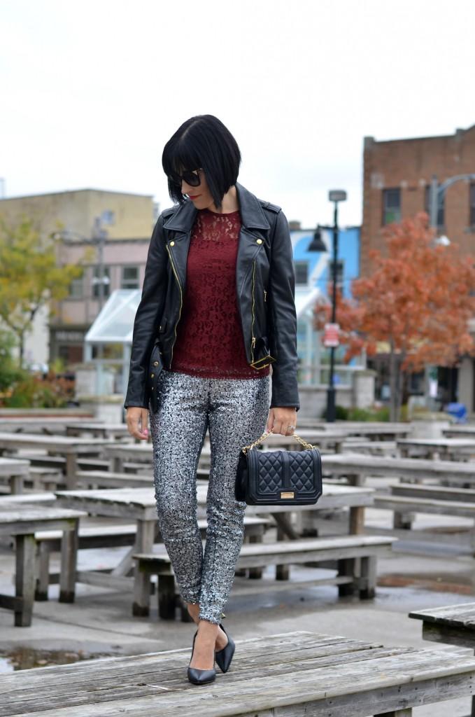 sparkly leggings