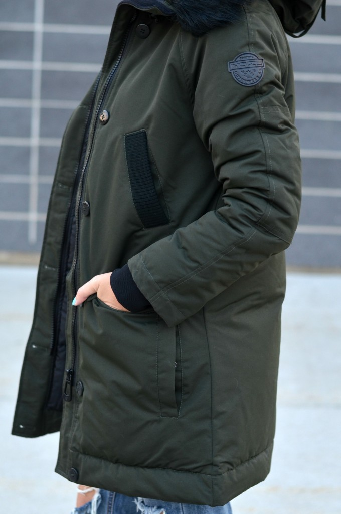 forest green winter jacket