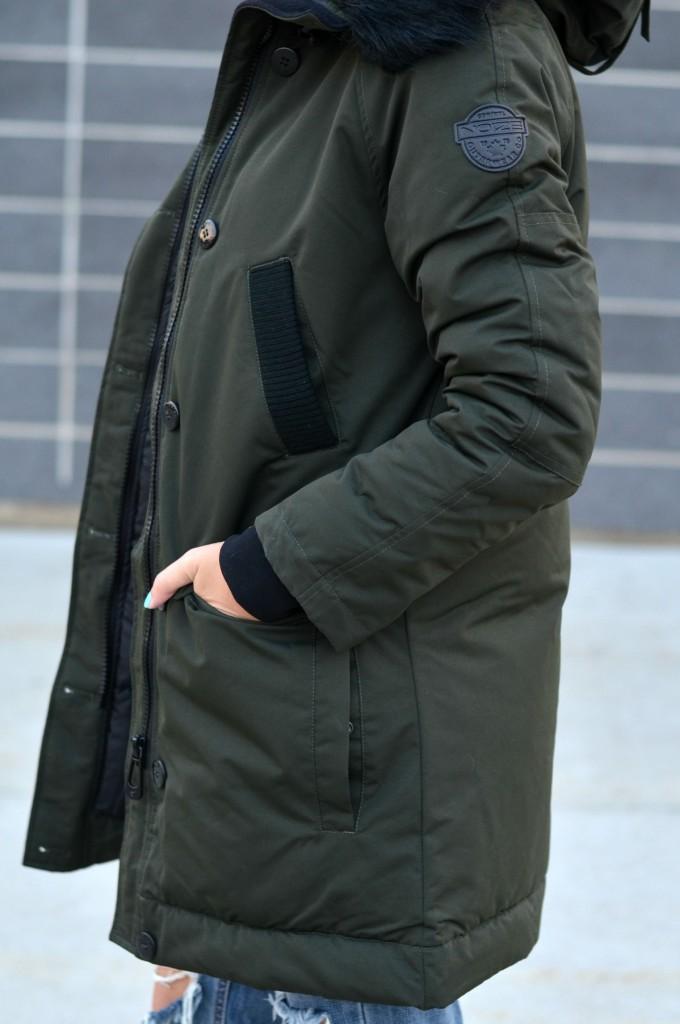 forest green winter jacket