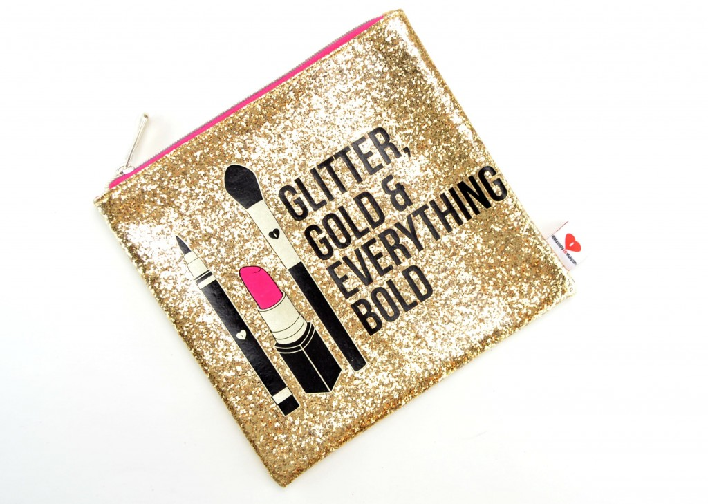 Sephora Collection Glitter, Gold, & Everything Bold Clutch