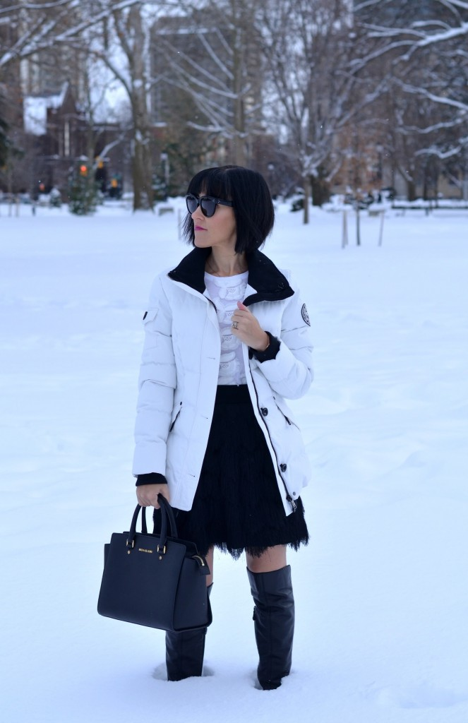 Trade Your Black Coat for a Winter White One