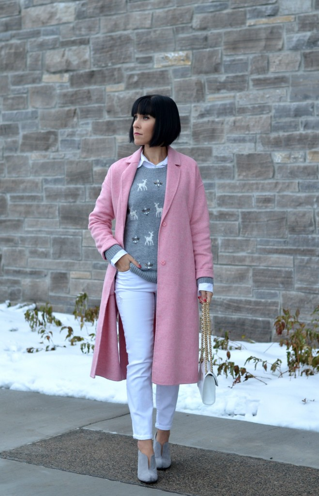 how to style a pink coat, fashion blogger, canadian fashion blog