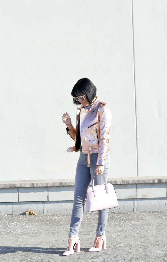 rose gold bomber, style blog, blogger, fashion, best blogs, fashion style