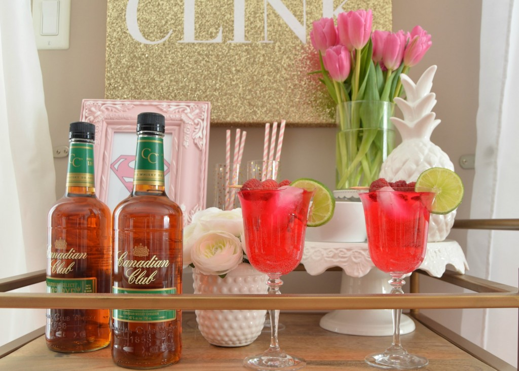 Cocktails to Share this Valentine's Day, Canadian Club, valentine's drink, pink drink, valentines day cocktail