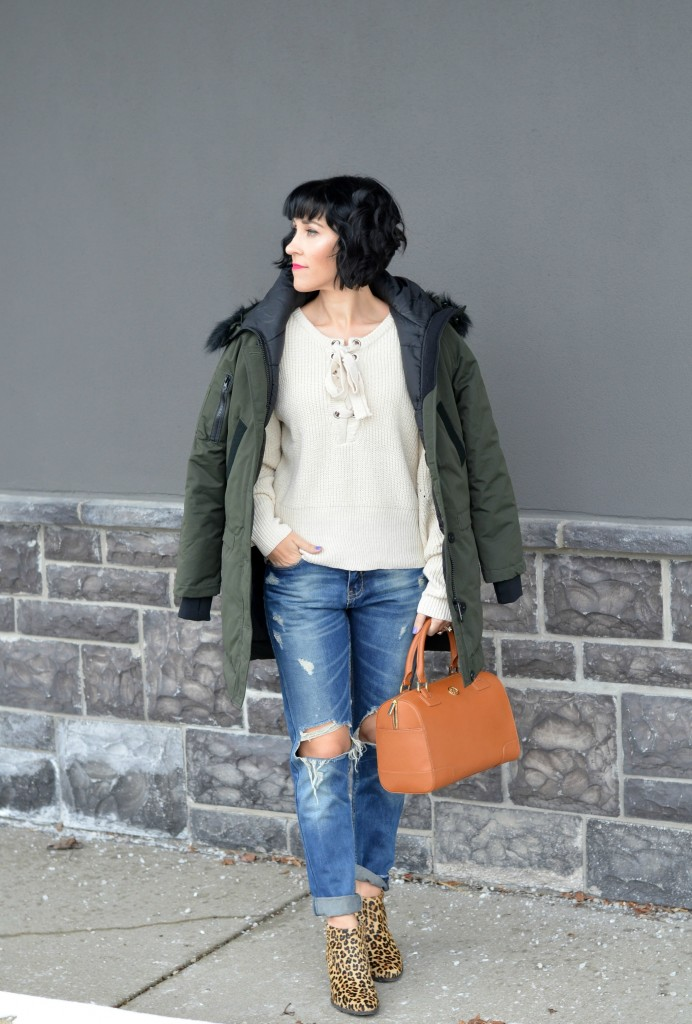 5 Ways To Style An Army Green Winter Coat