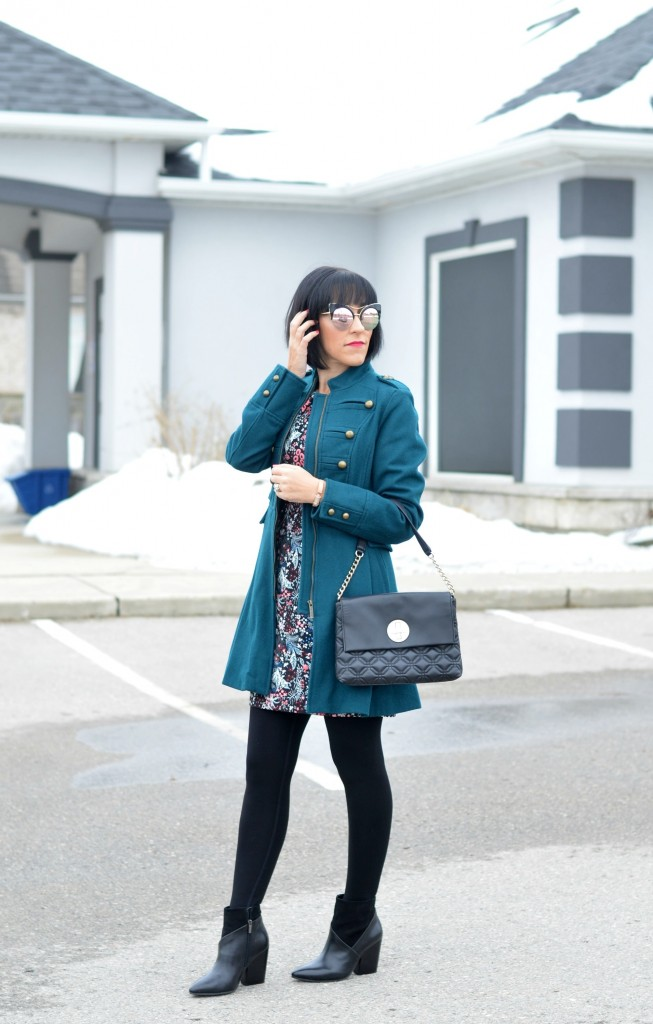 military coat, military jacket, teal winter coat, teal jacket, blue winter coat