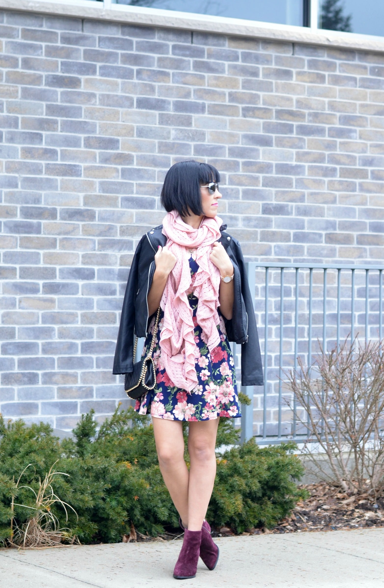 sears, sears canada, floral dress, how to style floral dress, winter floral dress, what to wear on valentine's day, canadian fashionista, fashion blogger