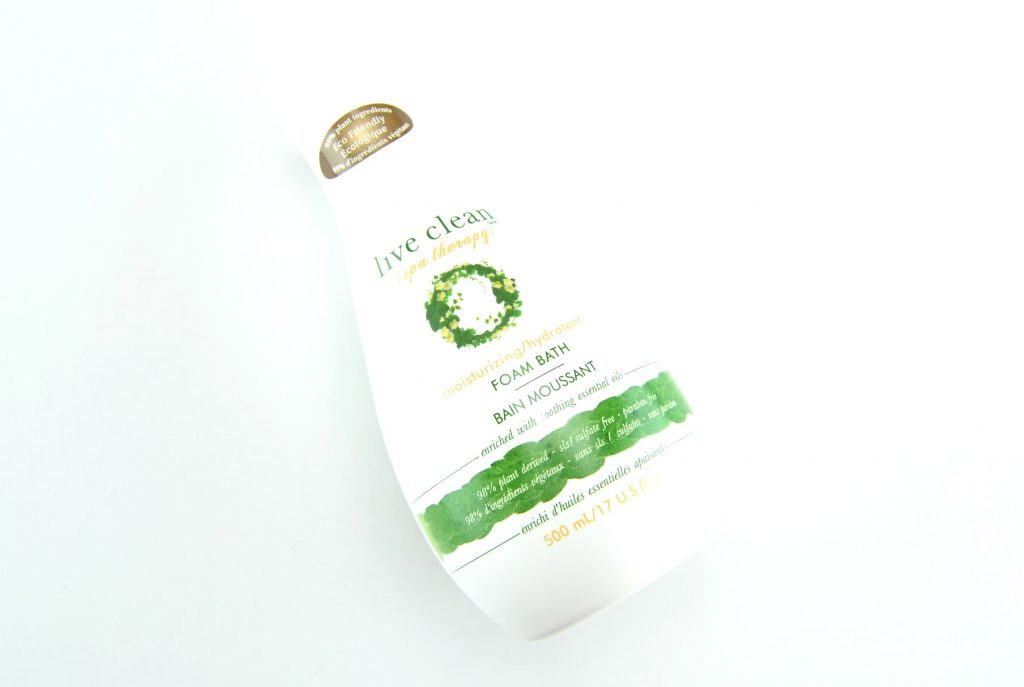 Live Clean Spa Therapy Moisturizing Bath Foam, live clean canada, bubble bath, foam bubble bath