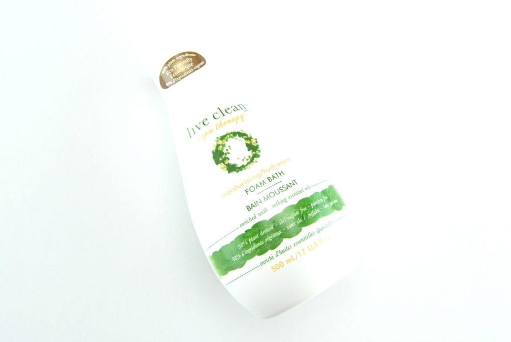 Live Clean Spa Therapy Moisturizing Bath Foam, live clean canada, bubble bath, foam bubble bath