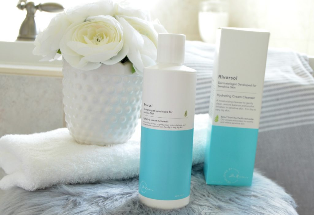 Riversol Hydrating Cream Cleanser, cream cleanser, riversol cleanser, facial cleanser, sensitive skin cleanser
