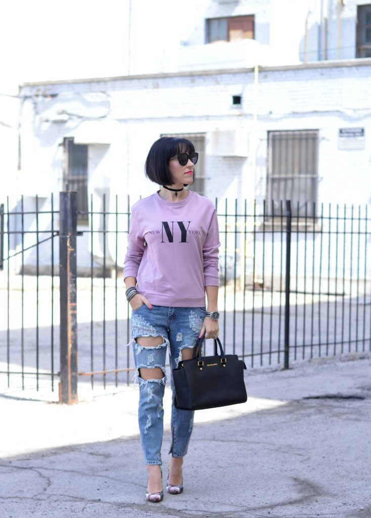 Finding that perfect pair of distressed boyfriend jeans