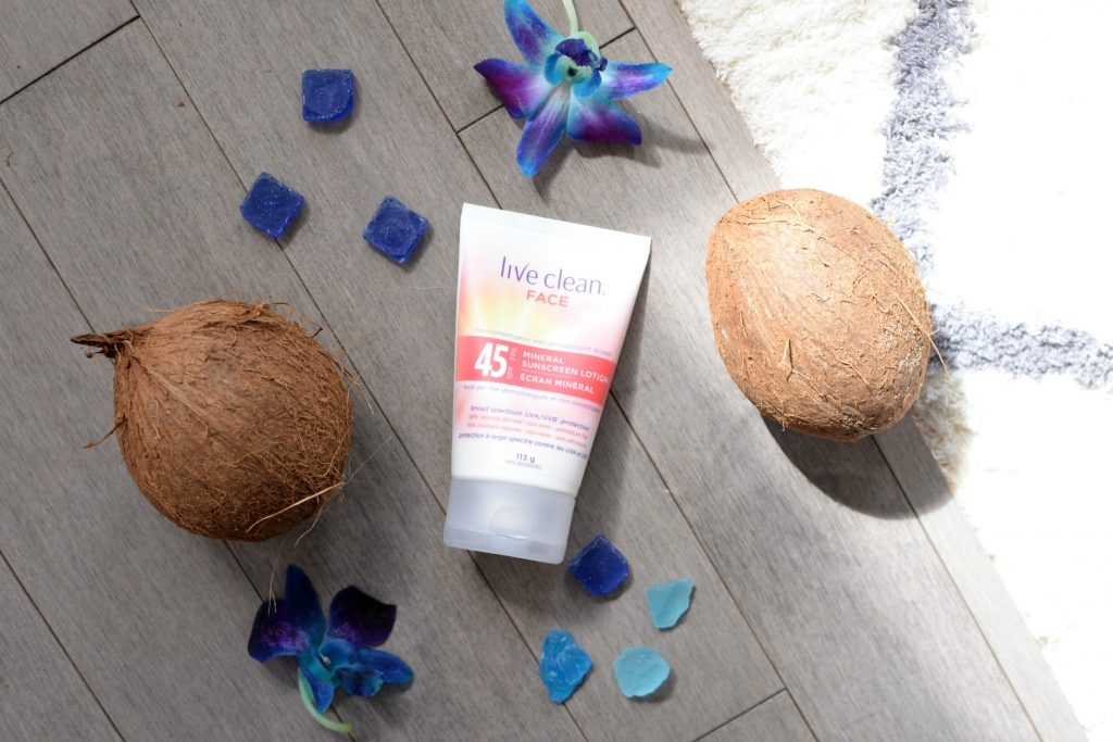 Live Clean Mineral Sunscreen SPF 45 Face Lotion