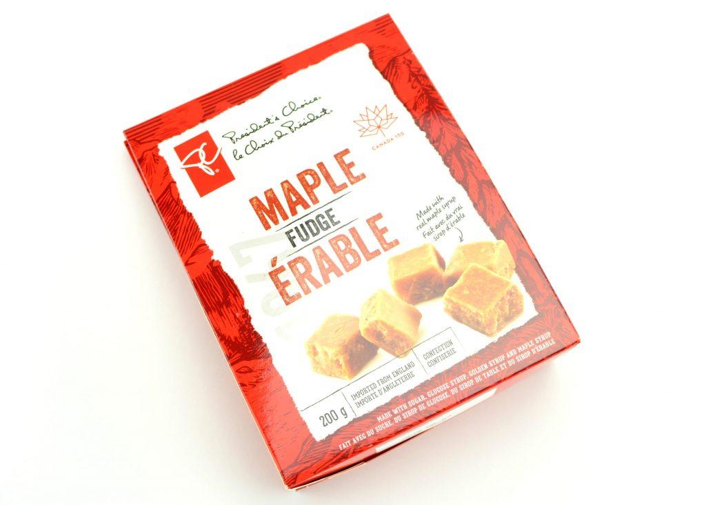 PC maple-flavoured fudge