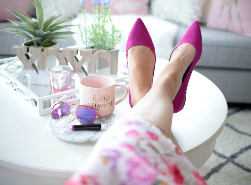 How To Wear Pink Ballerina Flats