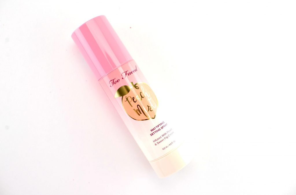 Too Faced Peach Mist Mattifying Setting Spray