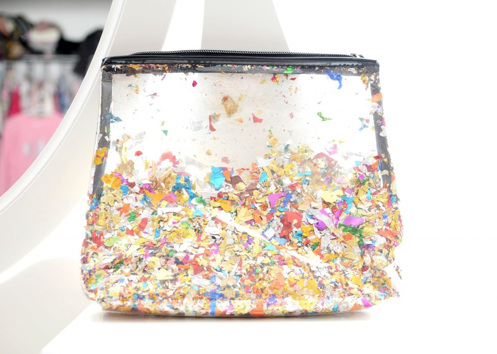Sephora Collection Let's Disco Confetti Travel Bag