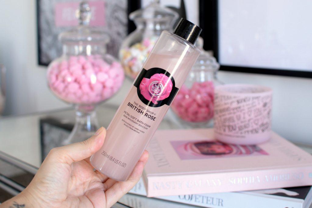 Body Shop British Rose Petal Soft Bath Foam