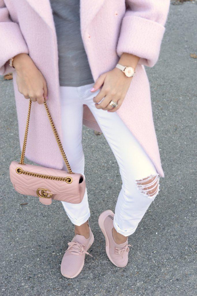 Skechers, skechers kicks, pink sneakers, pink kicks, how to style sneakers