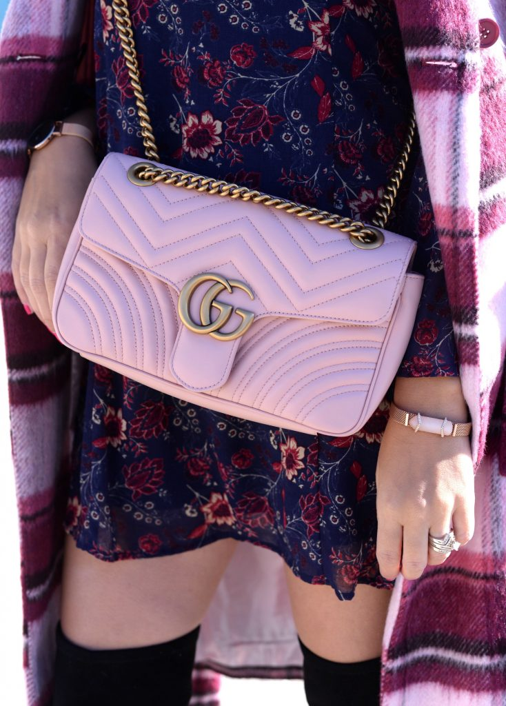Gucci Marmont purse, Gucci Marmont, pink Gucci Marmont, pink purse, pink handbag, gucci purse, gucci handbag, how to style a gucci purse