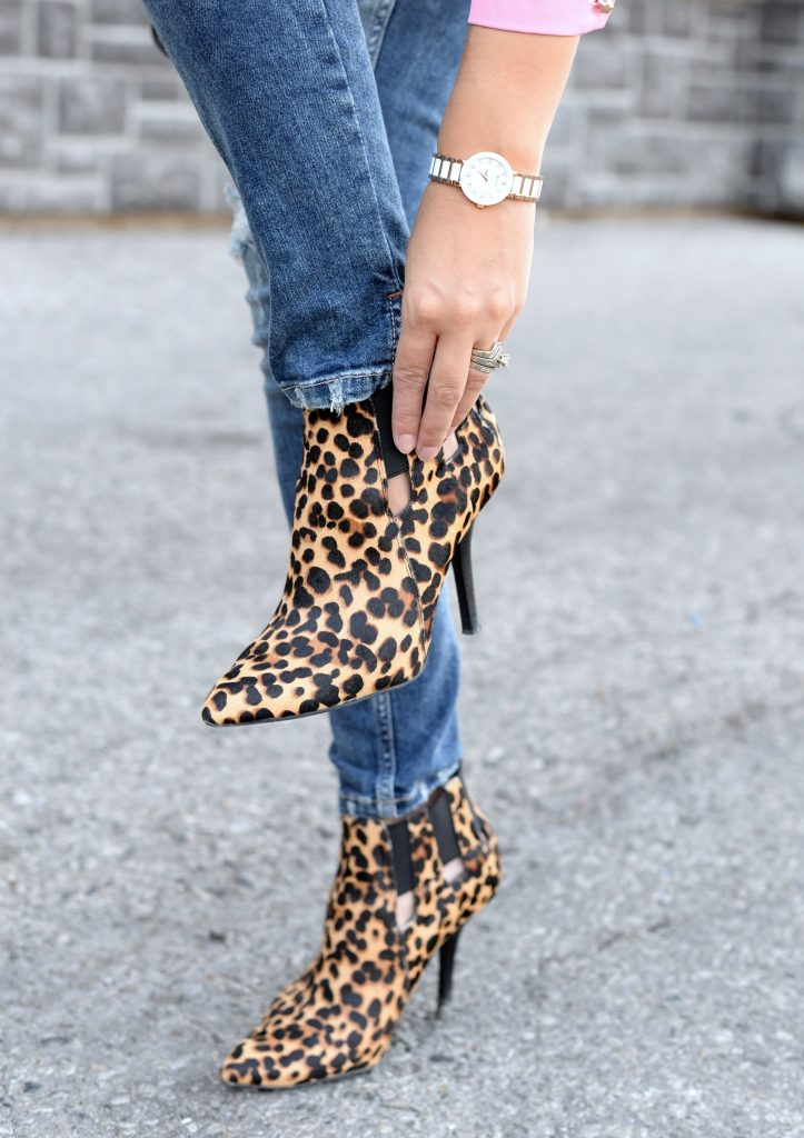 Chic Wish Blouse, Silver Jeans, Bootlegger Jeans, Animal Print Booties, Bulova Watch, fashion blogger, canadian blogger, canadian fashionista