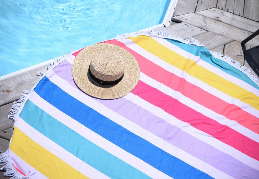 Poppy & Peonies Beach Towel