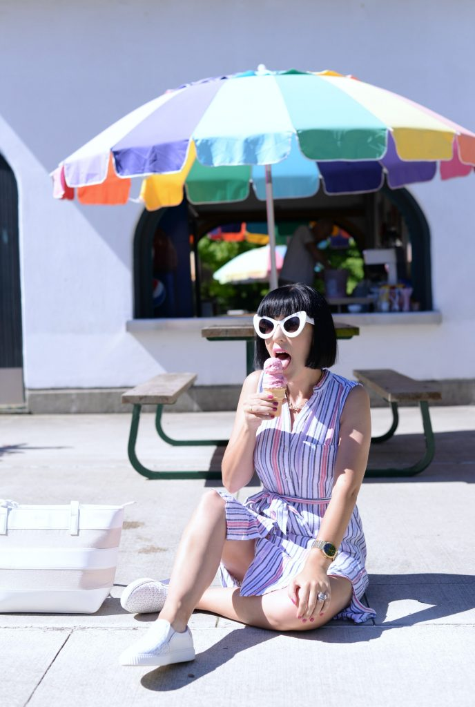 What I Wore, Gap Dress, Pinkstix Purse, Sunglasses, Zero UV, Wittnauer watch, gold watch,, Slip-On Sneakers, Le Chateau shoes
