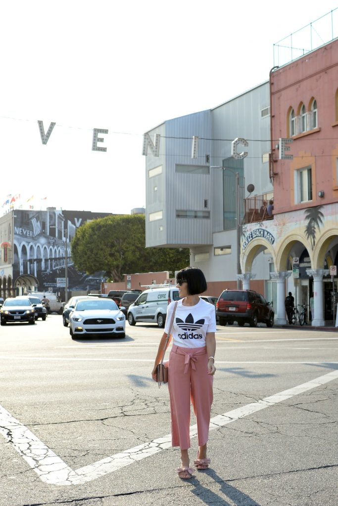 """Most Instagram Worthy Places in LA, Hollywood sign, Rodeo Drive in Beverly Hill, Beverly Gardens Park, Beverly Hills Sign, The Los Angeles County Museum, Santa Monica Pier, venice beach, Paul Smith pink wall, Made in LA Sign, California Dreaming """"Angel Wings"""", The Ivy, The Beverly Hills Hotel"""
