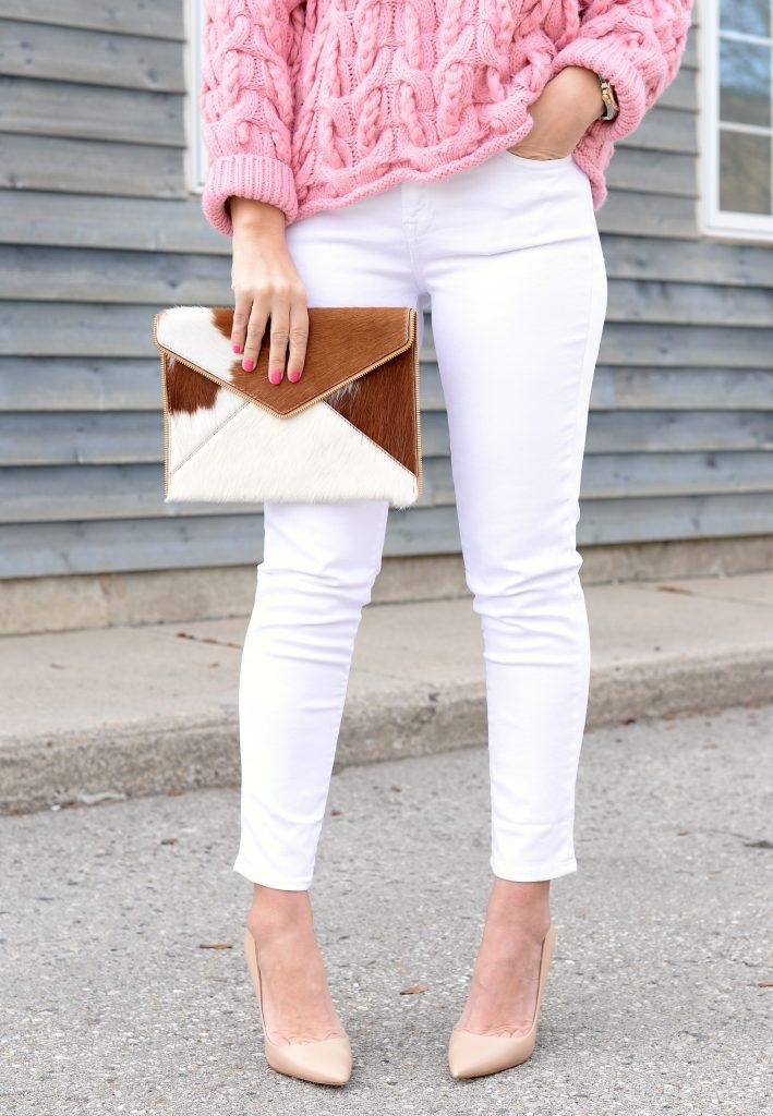 Pink Chunky Knit Sweater Zara