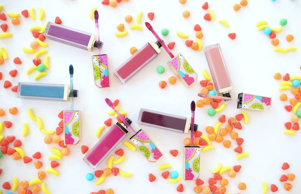 Too Faced Juicy Fruits Comfort Lip Glazes in shades in