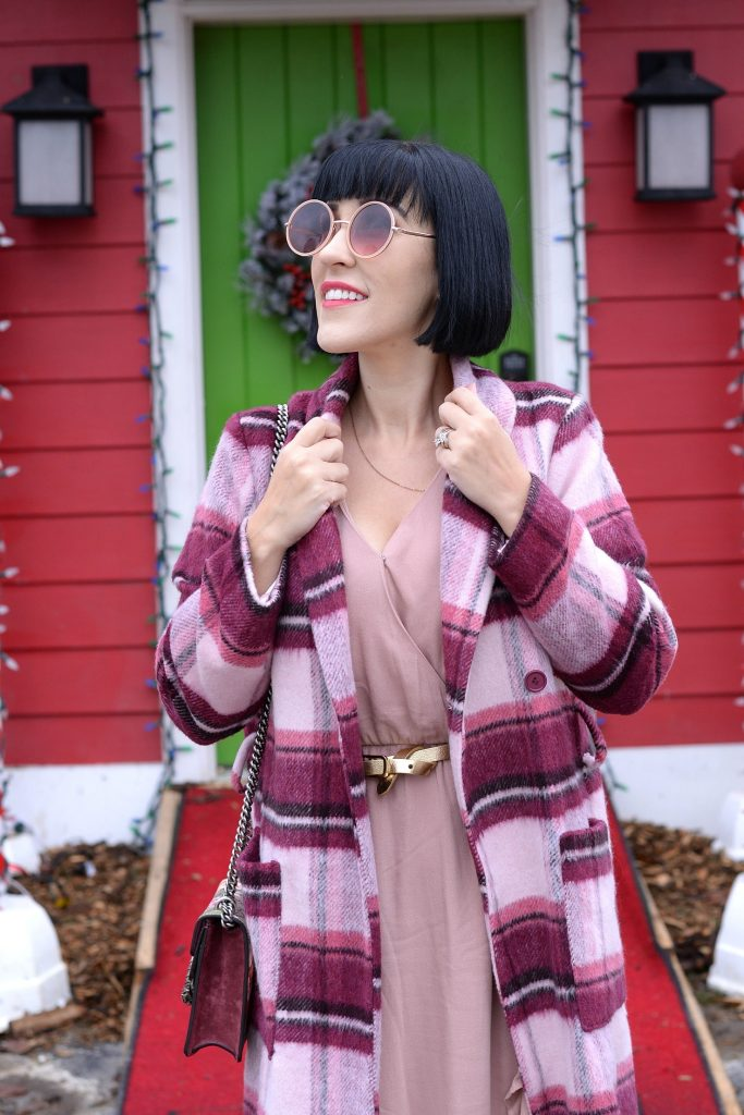 Online Shopping Secrets, online shopping like a pro, bam social, winter fashion 2018, how to style a plaid winter coat, Victoria Emerson Necklace, Forever 21 Sunglasses, Gucci Purse, Na-kd Fashion, Plaid Winter Coat, Daniel Wellington Watch, Zara Boots