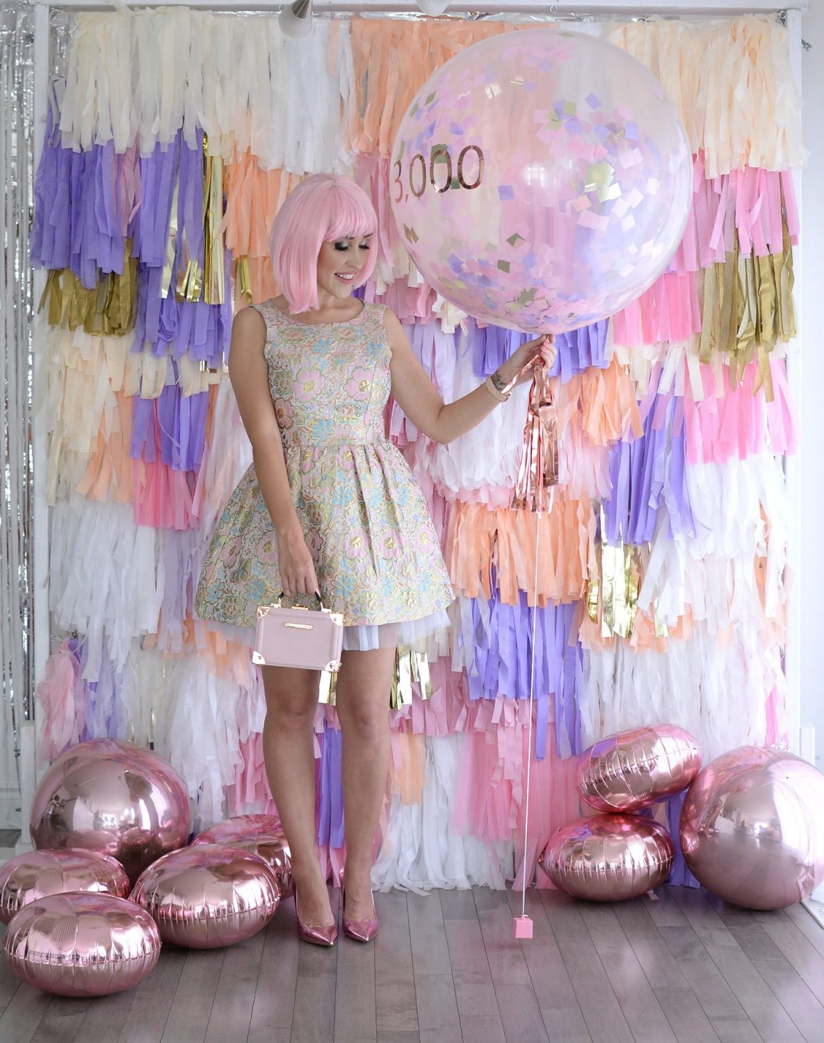 Tassel Wall, Tassel Garland, 3000th blog post, the pink millennial