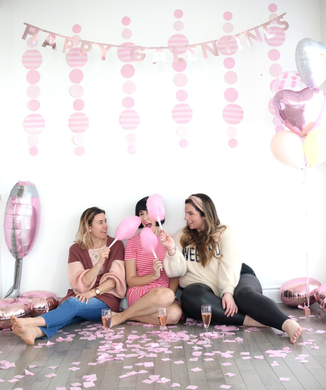 Galentine's Day Cotton Candy Champagne Bar