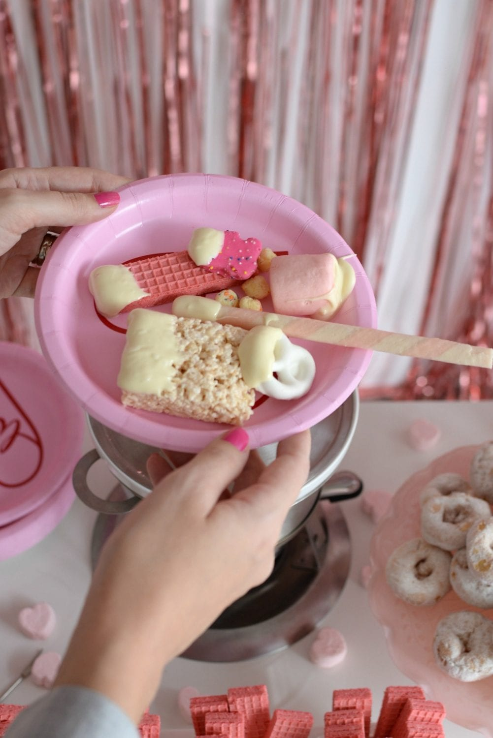 Galentine's Day Chocolate Fondue Party