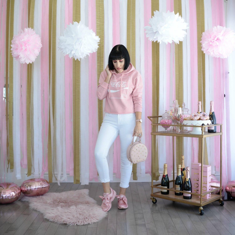 Pink Hoodie Sweater