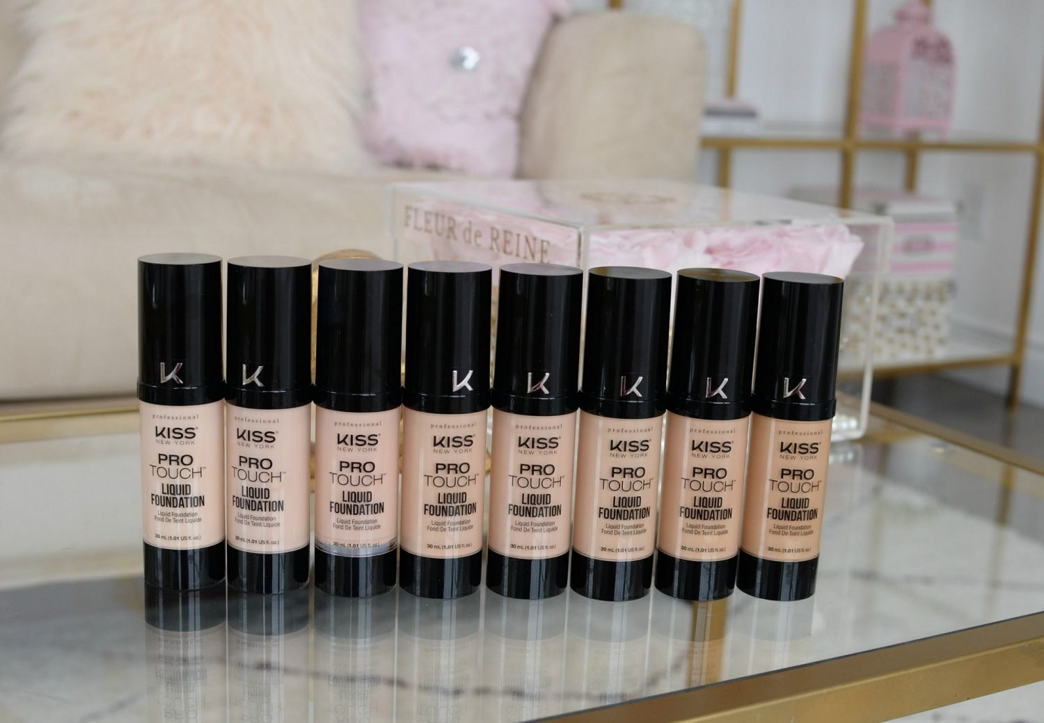 Kiss New York Professional Pro Touch Liquid Foundation | The Pink Millennial