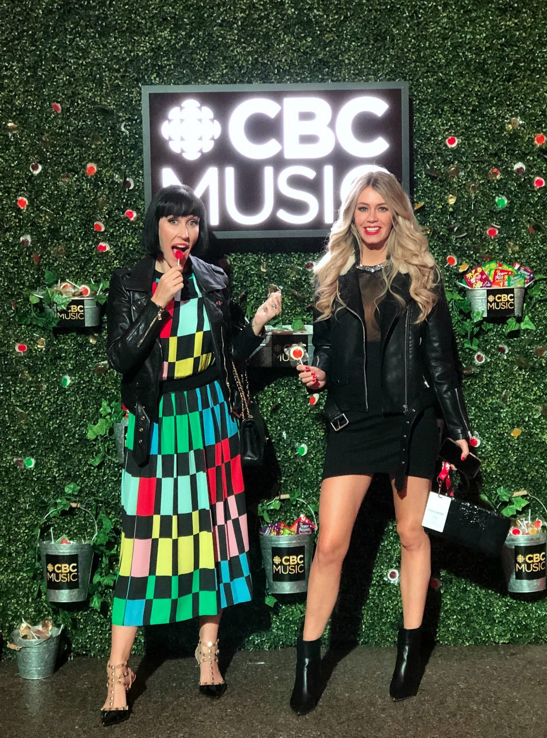CBC Music Green Wall - Juno Awards London ON | The Pink Millennial